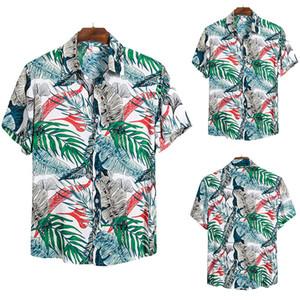2020 Man Leisure Time Short Sleeve Flower Shirt Cs146