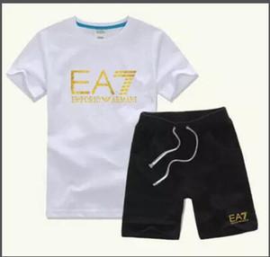 HOT New Luxury Logo Designer Bambini T-Shirt Pants 2-7 Anni Set Bambini Brand Bambini 2 pezzi Cotton Clothing Set Ragazzi Fashion Apparel COCO