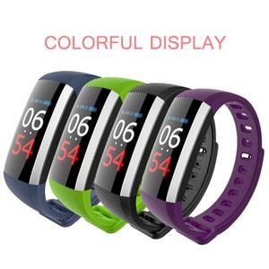 Pas cher G19 Fitness Bracelet montre Smart Watch écran tactile couleur pression artérielle Fitness Montres Podomètre pulsomètre Band intelligent DHL 50pcs moins cher