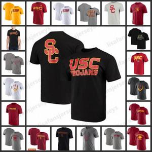 USC трояны Спорт Tshirts Champion Традиция короткие рукава Мода лето футболочку Big Tall Правда Спорт NCAA College Football ФУТБОЛКИ