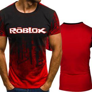 Новая Roblox игра для печати Градиент цвета тенниску Men Быстрое сжатие дышащий мужские O-образным вырезом с коротким рукавом Фитнес футболки Спортивные клубы Tight Tee вершины