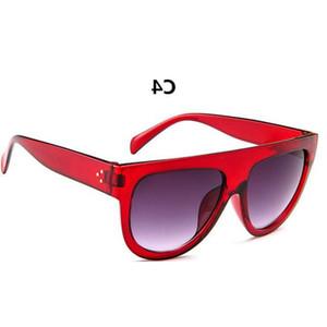 Moda Flat Top Mulheres doces colorem Óculos de sol clássicos Designer Retro Sun Glasses Homens Feminino Integrated Lens Marca Shades UV400