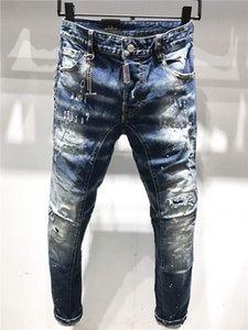DSQUARED2 DSQ2 SS20 nuovo arrivo superiore del progettista di marca Uomini Denim Tirante freddo jeans del ricamo Pantaloni Moda Fori Pantaloni Italia Dimensione 44-54 A190