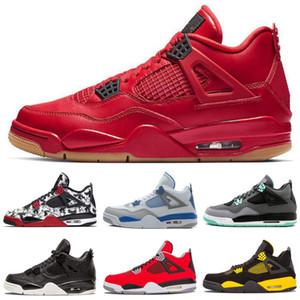 2019 Klasik Jumpman 4 4 S OG Sınırlı Tasarımcı Basketbol Ayakkabıları NRG Raptors Yıldırım Encore Atletik Spor Sneakers Kutulu