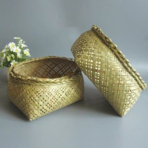 Depolama sepet el yapımı bambu sepet meyve ve sebze Çin tarzı depolama restoranı mutfak ev eşyaları
