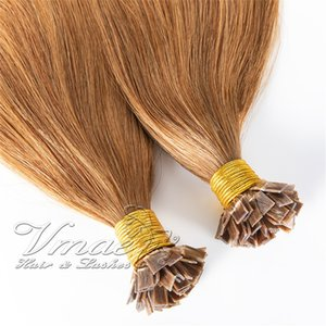 Peruvian Straight Pre Bonded Natural 613 blonde 0.5g or 1g strand 100s Keratin Flat Tip Virgin Human Hair Extensions