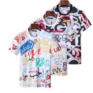 lüks Erkek Tasarımcı Gömlek Yaz Erkekler Kadınlar Kısa Gömlek Marka Giyim Harf Desen Baskılı Tişörtler Mürettebat Neck Casual T Shirts