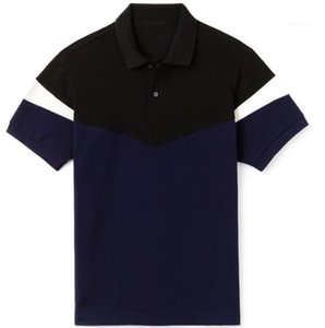 À manches courtes rayé imprimé Hommes Polos Casual Adolescent été T-shirts Crocodile Hommes Polos Designer Lapel Neck