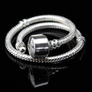 10PC ONLY 925 Silver 3MM Snake Chain Fits European DIY Pulseira Fits Charms Jewelry (16CM-21CM For Choice)