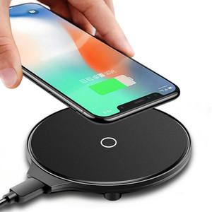 5W 10W QI Mini veloce ricarica ultra-sottile del caricatore senza fili del telefono mobile trasmettitore per Iphone Samsung Huawei OPPO VIVO Google LG Nokia M9 Nuovo