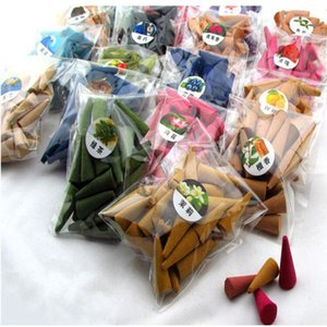 Moda Mix Renk Tütsü Koni Duman Backflow Tütsü Bullet Koniler Aromaterapi Parfüm Doğal Sandal Ağacı Kapalı Ev 28pcs = 1bag