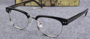 Joel nouvellement arrivé demi-monture Johnny Glasses Optical Eyeglasses Lunettes anti-bleues Myopia Depp Cadre avec boite d'origine