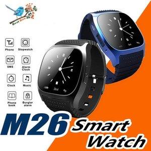 M26 smartwatch Wirelss Bluetooth Akıllı Seyretmek Telefon Bilezik Kamera Uzaktan Kumanda IOS Android için Anti-kayıp alarm Barometre kordonlu saat