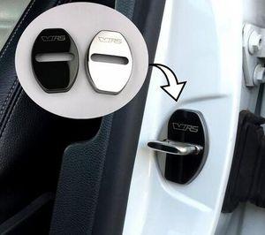 Cubierta de la cerradura de la puerta para Skoda Citigo Rapid Octavia VRS a7 Fabia Excelente diseño de automóviles Cubiertas de automóviles de acero inoxidable Estilo de automóviles