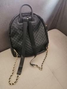 2019 ünlü moda sembol siyah PU sırt çantası nakış seyahat çantası kadın Vintage stil Retro sırt çantası altın logo omuz çantaları