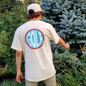 19SS GOLF WANG circulaire T T Mode Simple Casual manches courtes hommes femmes, rue de planche à roulettes T-shirt HFHLTX020