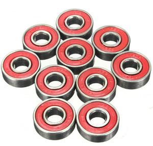608 2RS Inline Roller Skate Wheel Bearing Blacken 2.1 x 2.1 x 0.7cm Skateboard Wheel Bearing Red Sealed