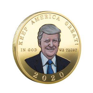 Colorful Trump Speech Commemorative Coin America President Collection Coins Crafts Trump Avatar Keep America Great Coins DHE293