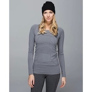 Kadınlar Ev Giyim Yoga Spor Uzun Kollu T Shirt Lu | u | emon Spor Gömlek