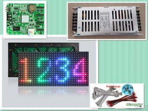free shipping DIY LED display 18 pcs P8 outdoor SMD Full Color Led Module (320*160mm)+asynchronous led controller+power supply