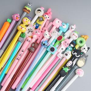 de dibujos animados múltiples diseños bolígrafo de gel 0,5 mm bolígrafos negro lindo de los niños material de oficina material escolar suministros al por mayor libre del E-paquete