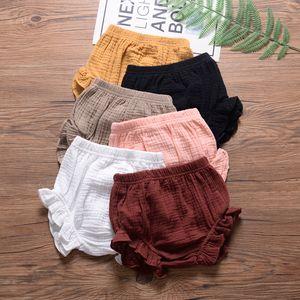 Baby Designer Short clothes summer Girls short solid colors design all-match 100% cotton baby girl summer short multi colors Z11