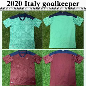 2020 Italie équipe nationale gardien Hommes Maillots de football Nouveau DONNARUMMA MERET BUFFON rouge vert Football Chemise À Manches Courtes adulte Uniformes