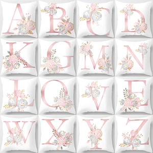 26pcs Letters Throw Pillow Case Square Cushion Cover Car Sofa Home Party Decoration Soft Velvet 45*45CM