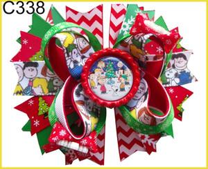 Les cheveux de Noël Livraison gratuite arcs Candy Cane Bow Père cheveux clip renne -B
