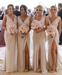 2020 Custom make SPLITE Langes Abendkleid FalteChiffon- Abendkleider Elegant Design Fomal Kleider Robe de Soiree Longue