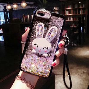 wholesale Glitter Diamond 3D Cute rabbit case for Huawei honor 9 9i P20 PRO Bling Sequins quicksand shell for huawei nova3 3i v20