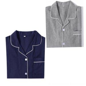 pigiama di stagione della coppia di colore solido vestiti pigiama Home Abbigliamento Uomo delle donne a casa arredamento abbigliamento MORI serie doppio strato del cotone g