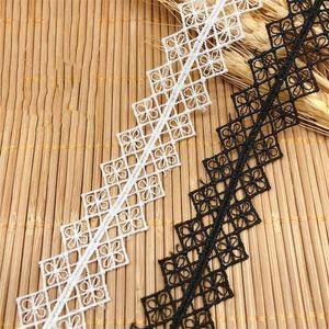 2.6cm İşlemeli Polyester Dantel Trim Kurdele Giyim Dekorasyon DIY Dikiş Yama Düğün Crafts Eğrisi Dantel LB043