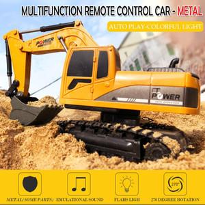 EBOYU 258-1 2.4Ghz 6CH 01:24 RC Escavadeira Mini RC Truck recarregável Simulado Escavadeira Toy presente para crianças