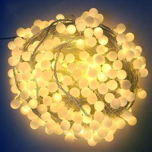 Globe LED String Light 10m 20m 30m 50m 100m AC 220V fairy Garland Garden outdoor waterproof Party Wedding Christmas Decoration Y200603