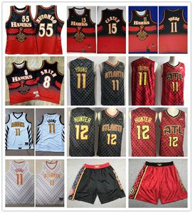 Vintage para hombre de la juventudAtlantaHawks Vince Carter 15 11 Trae joven Dikembe Mutombo 55 Baloncesto Jersey Color Rojo jerseys1 imprimir