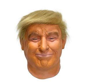 Donald Trump Latex Maske Billionaire amerikanischen US-Präsident Politiker Halloween Fancy Partei volle Kopfmaske Kostüm Kleid GD27