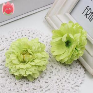 Baratos al por mayor 50pcs seda 6cm flor de la maravilla artificial para el banquete de boda de la decoración del hogar Mariage Caléndula Simulación falso Flores