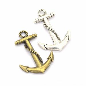 100pcs / lot große Größe 44 * 30mm Anchor Charms Anhänger Nautical Charms gut für DIY Handwerk, Schmuckherstellung