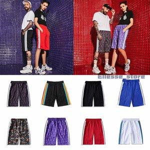 20SS мужских женских дизайнеры шорт одежда письма печати радуги полоса лямка случайного пятиточечный случайный Ман штаны пляж шорты