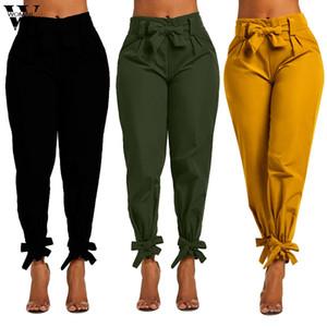 Pantalones para mujer Las mujeres otoño del vendaje atractivo color y vendaje de los pies pantalones ocasionales de los pantalones de las mujeres S-2XL