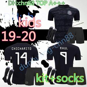 2019 crianças + meias ouro copo México camisas de futebol apagão, 14 J.Hernandez 10 J.Dos Santos 22 H. Lozano personalizado Thai Qualidade de Futebol