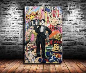 티에리 Guetta이다 뱅크시 미스터 브레인 워시, HD 캔버스 인쇄 새로운 홈 장식 예술 회화 / (프레임 화 / 액자)