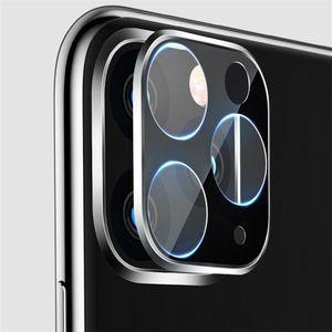 Téléphone objectif protecteur d'écran pour iPhone 11 pro max 3D Full Back Caméra en verre trempé Film Aluminium Métal Lens Case