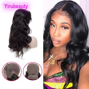 13X4 фронт шнурок прямого парик Объемной волны Бразильская Дева волосы индийские человеческие волосы 8-30inch Natural Black Pre щипковый фронт шнурок парики