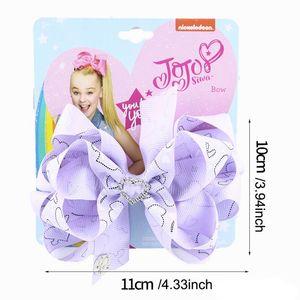 Love JOJO Siwa Girls Hair Clips 2020 New Handwork Hair Bows Princess BB Clip Designer Barrettes Kids Hair Accessories 8 Styles