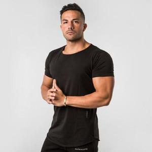 Новый дизайнер панелями футболка мужская фитнес футболка Homme Gyms футболка мужчины фитнес кроссфит лето тройники топы с M-2XL