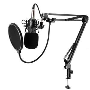 BM-800 Music Studio Estudio de grabación de Difusión Condensador Micrófono Grabación de micrófono para PC portátil de grabación KTV Canto