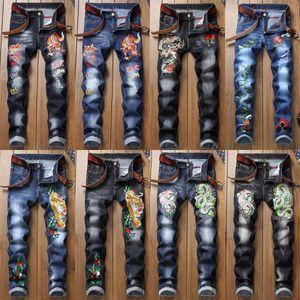 19ss Mens Designer jeans da uomo afflitto Zipper Jeans aderenti degli uomini di Hip Hop pantaloni progettista del Mens Pants Hole qualiy Denim 28-38
