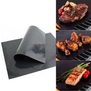 Barbecue Grill Mat Barbecue Grillen Liner Tragbare Antihaft- und Wiederverwendbare Make Grilling Einfach 33 * 40CM 0.2MM Schwarz Ofen Hotplate Mats